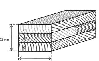 Sectiune lemn stratificat